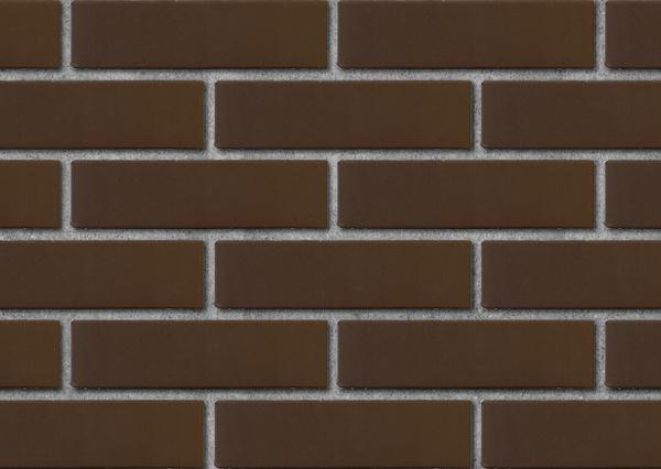Кирпич лицевой керамический ЛСР пустотелый тёмно-коричневый гладкий