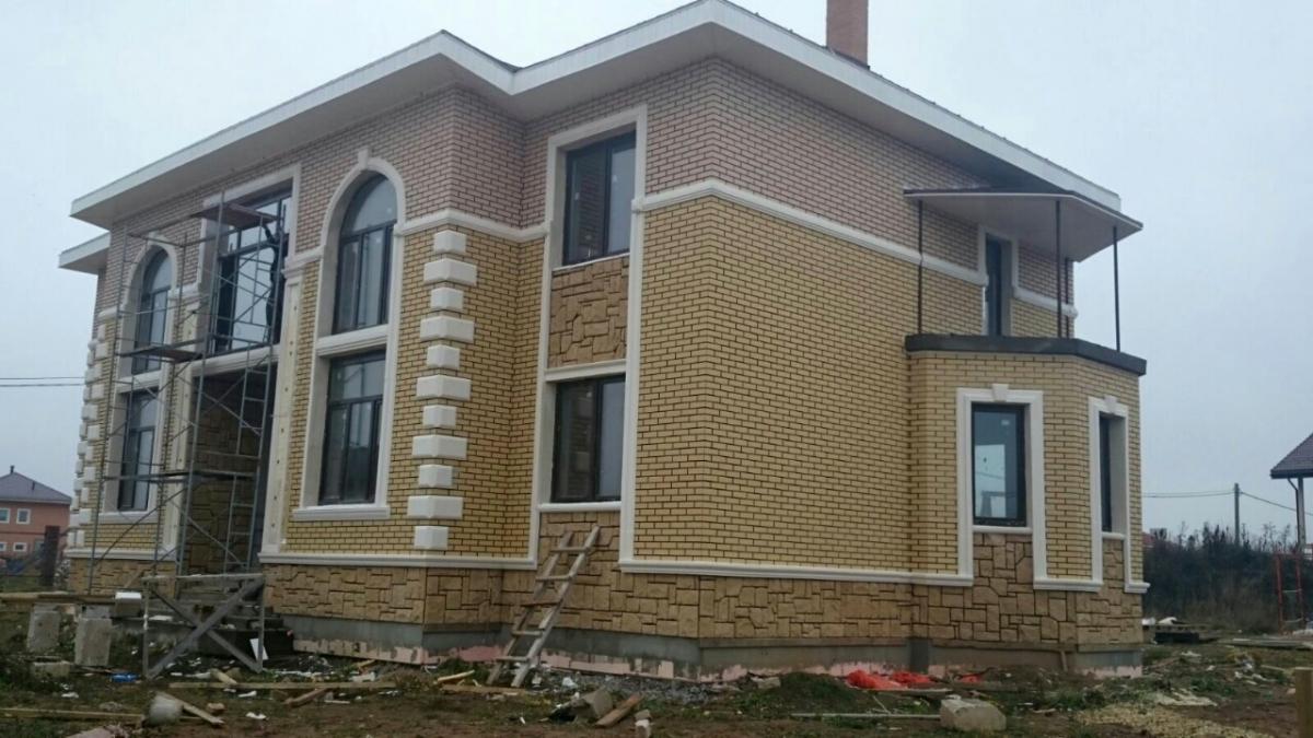 Фасадные термопанели с клинкерной плиткой Piaskowa