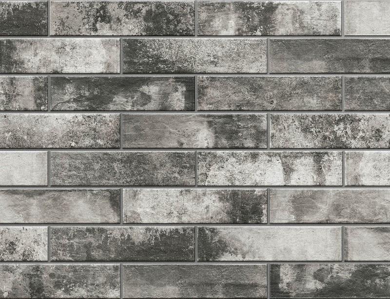 Клинкерная фасадная плитка под кирпич Piatto Antracyt 300*74*9 мм