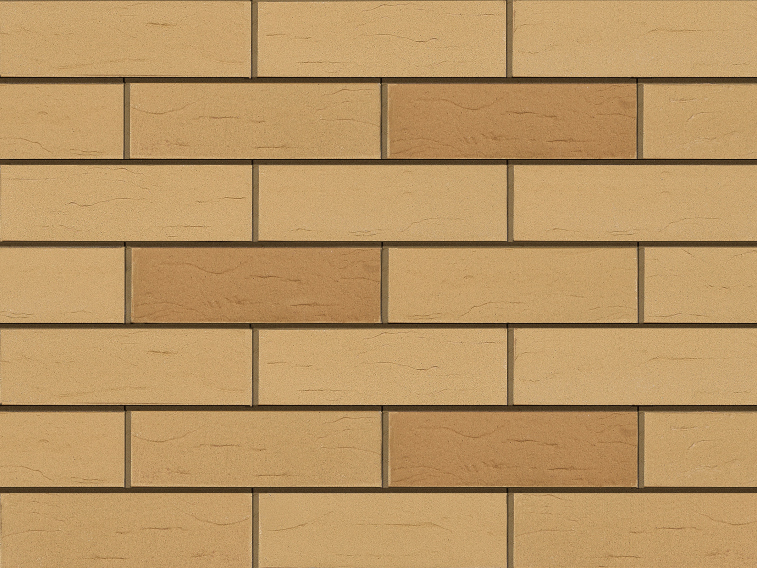 Клинкерная плитка для вентилируемого фасада Sandgelb