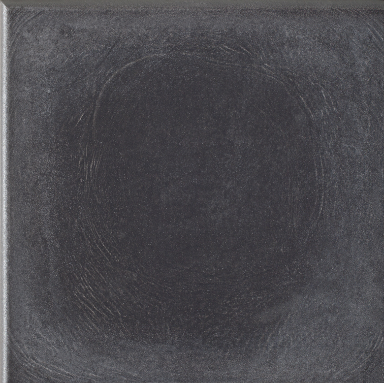 Угловая клинкерная ступень с капиносом Paradyz Bazalto Grafit, 330*330*11 мм
