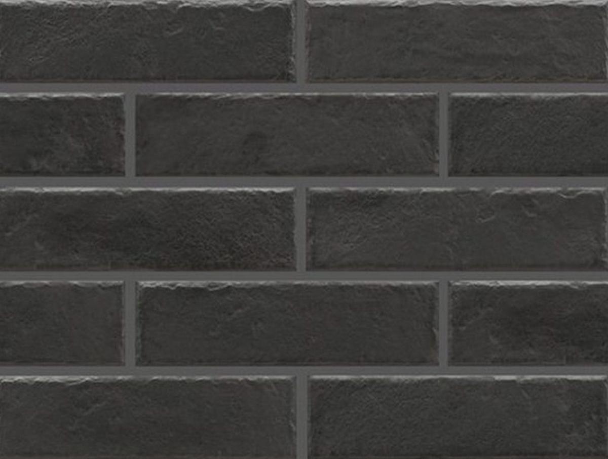 Клинкерная фасадная плитка под кирпич Foggia nero 245*65*8 мм