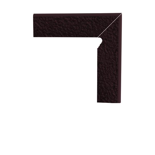 Цоколь структурный правый/левый Paradyz Natural Brown Duro, 300*81*11 мм