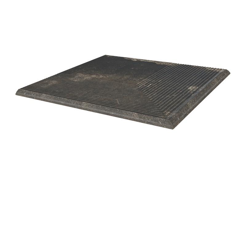 Угловая клинкерная ступень простая Paradyz Scandiano Brown, 300*300*11 мм