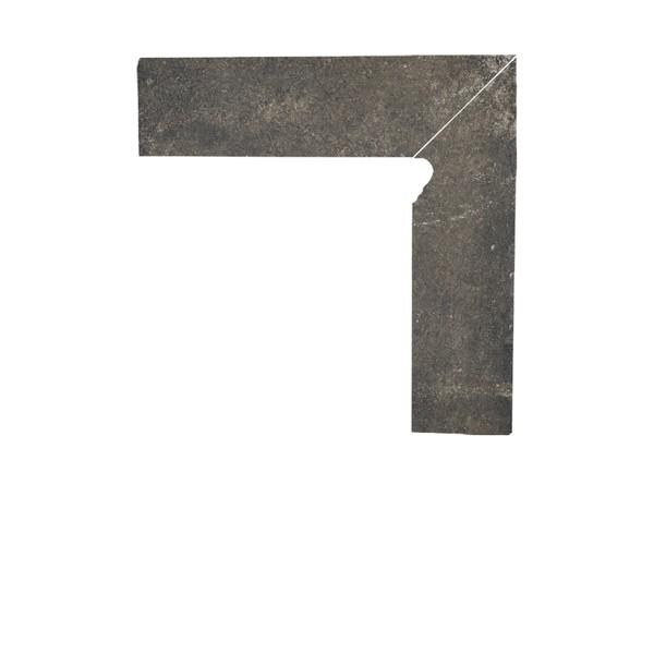 Цоколь структурный правый/левый Paradyz Scandiano Brown, 300*81*11 мм