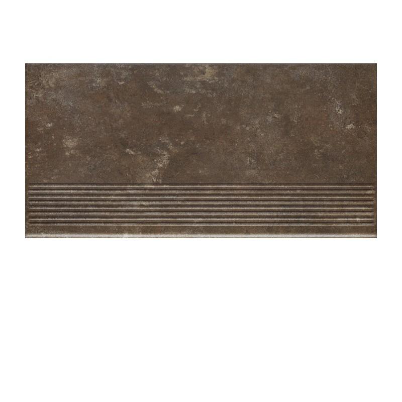 Фронтальная клинкерная ступень простая Paradyz Ilario Brown, 300*600*11 мм