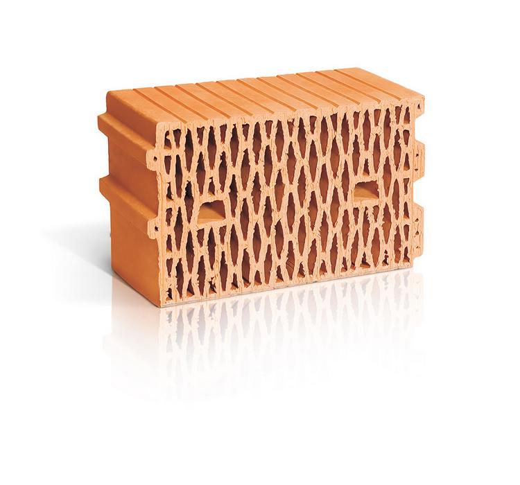 Поризованный рядовой блок RAUF Therme 11,2NF, 398*250*219