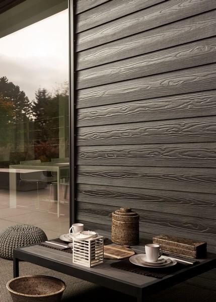 Фиброцементная панель Cedral Wood (дерево), цвет С04 ночной лес