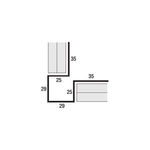 Внешний симметричный угловой профиль Cedral (Кедрал)