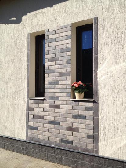 Фасадные термопанели с клинкерной плиткой Viano Grys