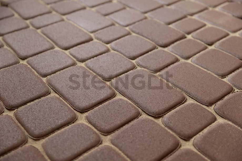 Тротуарная плитка Классика Коричневая 60 мм
