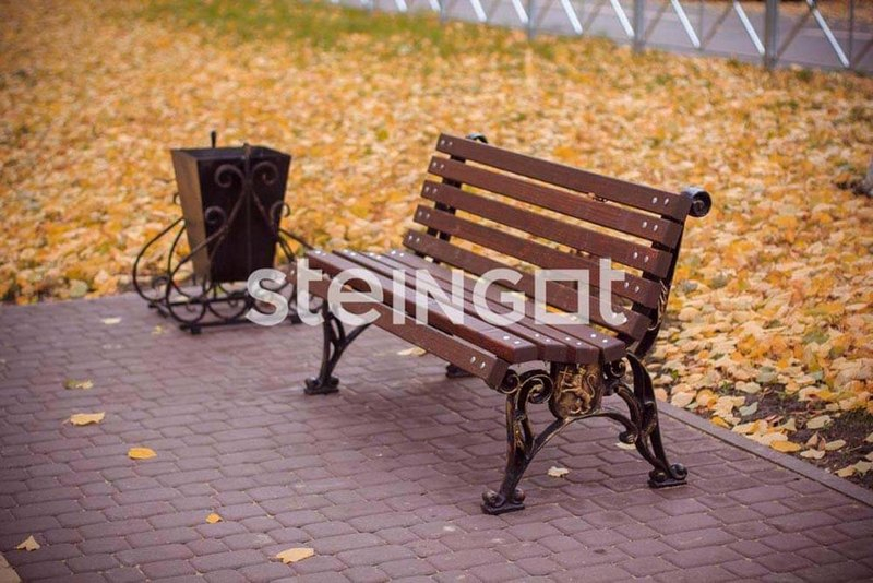Тротуарная плитка Классика Темно-коричневая 60 мм
