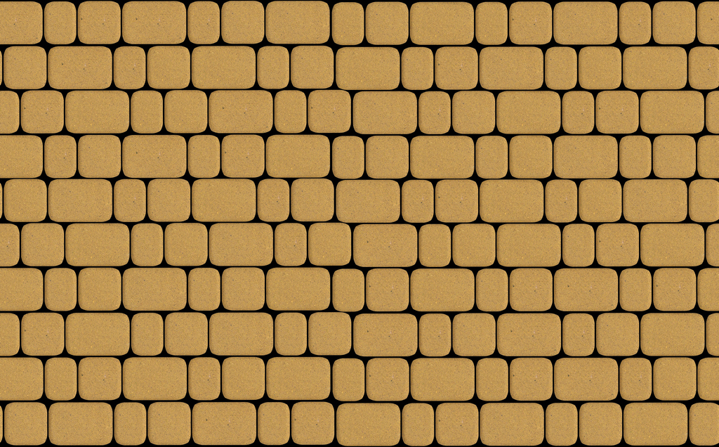 Тротуарная плитка Классика Желтая 60 мм