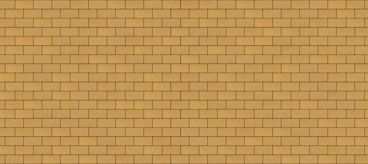 Тротуарная плитка Брусчатка 200*100*60 мм. Желтая (верхний прокрас, минифаска)