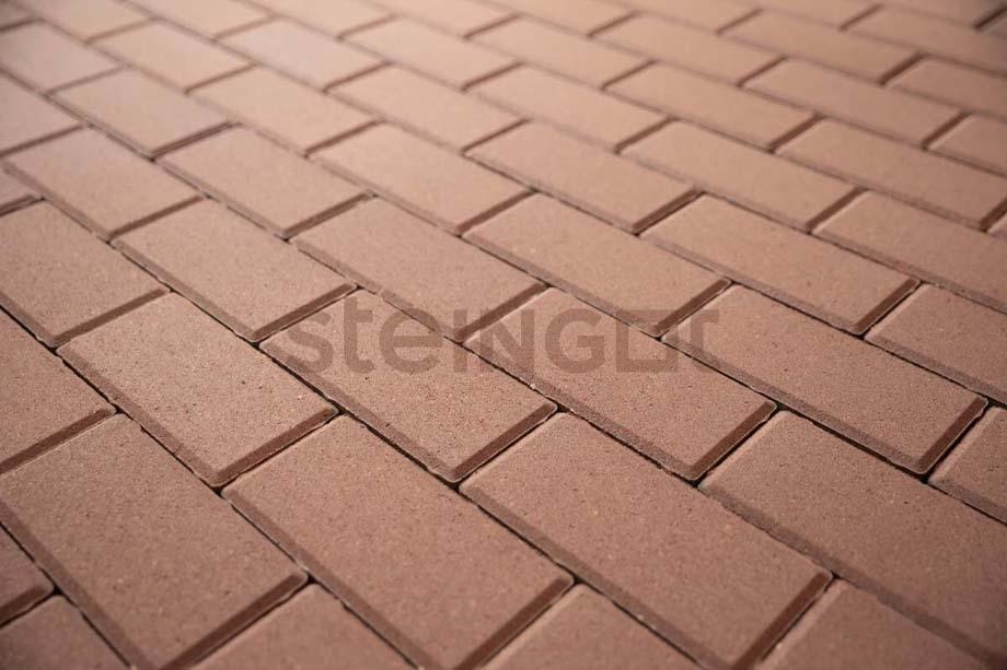 Тротуарная плитка Брусчатка 200*100*60 мм. Бежевая (верхний прокрас, минифаска)
