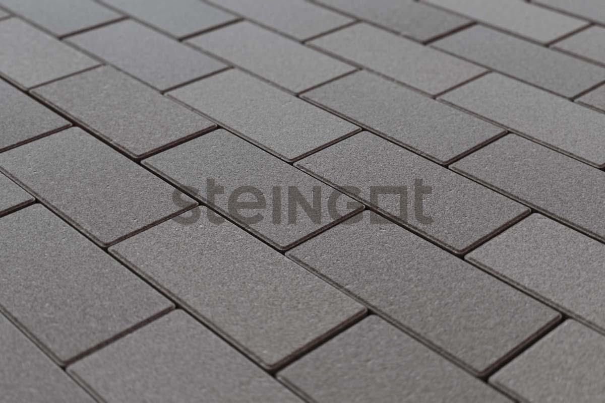 Тротуарная плитка Брусчатка 200*100*60 мм. Серая (верхний прокрас, минифаска)