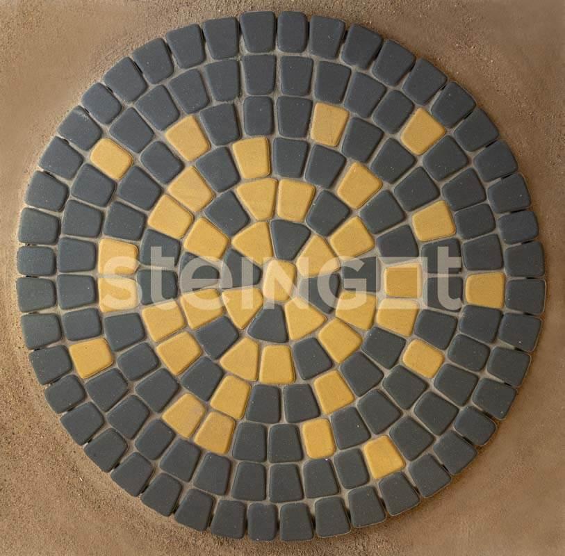 Тротуарная плитка Классика круговая Желтая 60 мм