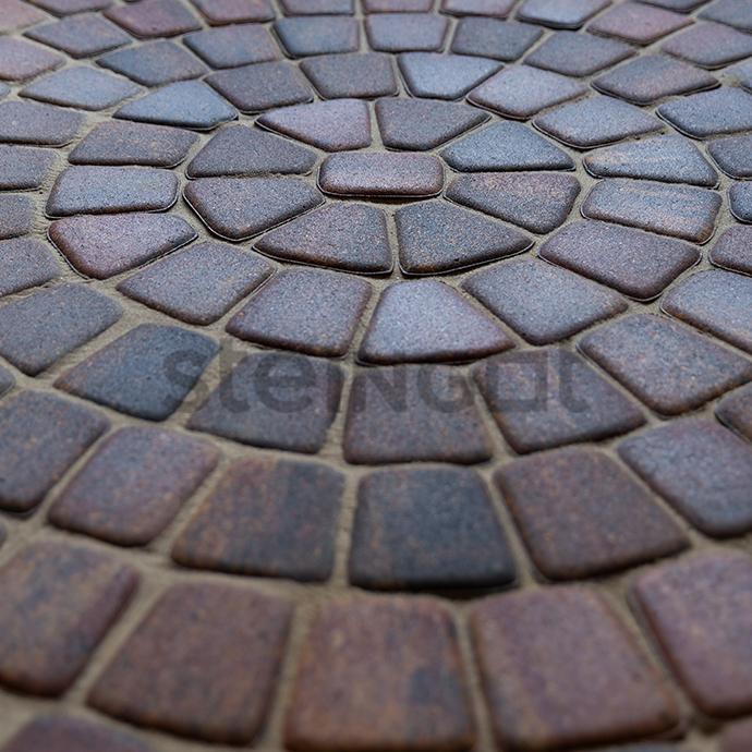 """Тротуарная плитка Классика круговая """"Бленд"""" 60 мм"""