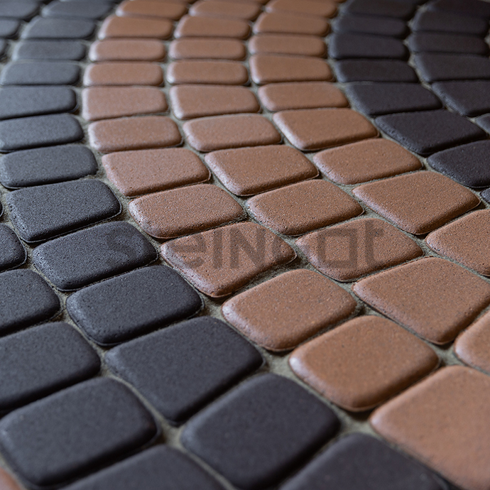 Тротуарная плитка Классика круговая Темно-коричневая 60 мм