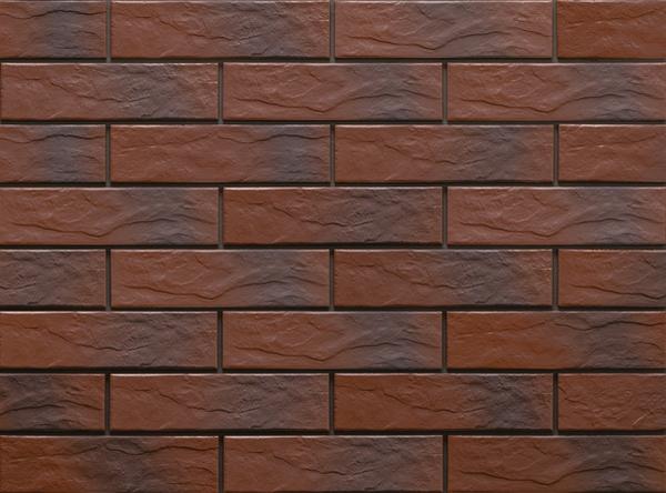 Клинкерная фасадная плитка под кирпич Cherry Rustic 240*65*6.5 мм