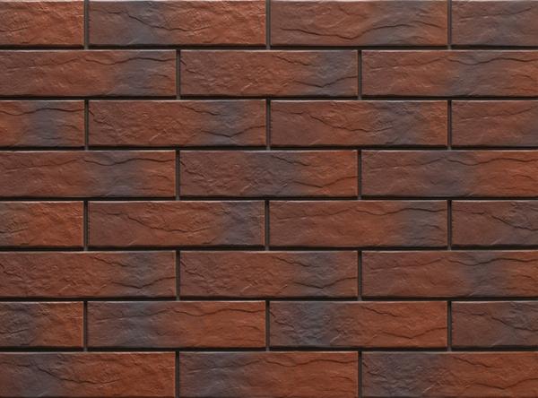 Клинкерная фасадная плитка под кирпич Rot Shadow Rustic 240*65*6.5 мм
