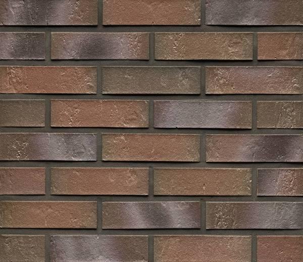Клинкерная фасадная плитка Feldhaus Klinker R721 Accudo cerasi maritim рифлёная NF14, 240*14*71 мм