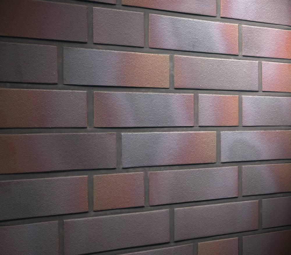 Фасадные термопанели с клинкерной плиткой Feldhaus Klinker R386 cerasi maritim negro