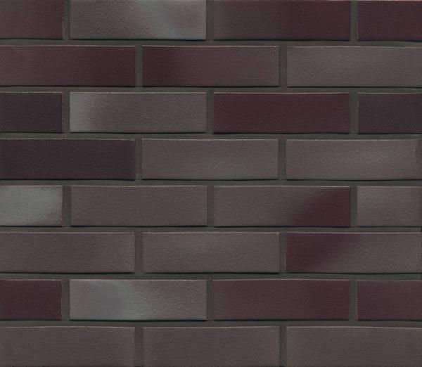 Фасадные термопанели с клинкерной плиткой Feldhaus Klinker R384 ferrum liso