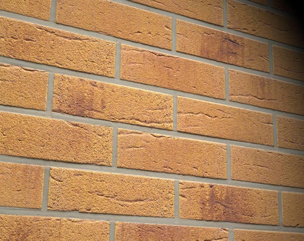Фасадные термопанели с клинкерной плиткой Feldhaus Klinker R287 Amari viva rustico aubergine
