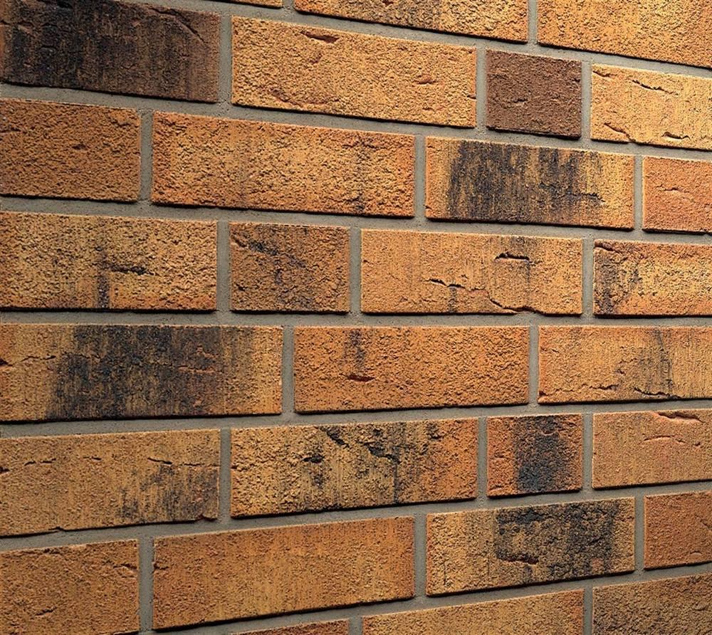 Клинкерная фасадная плитка Feldhaus Klinker R286 Nolani viva rustico carbo