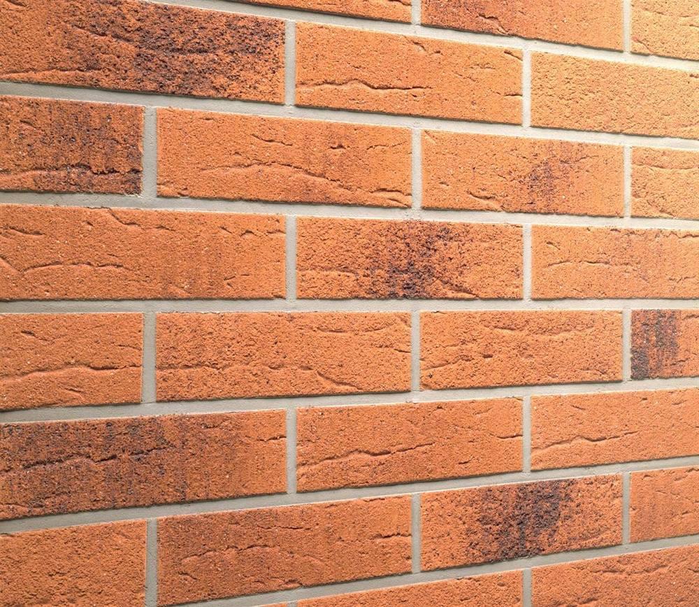 Фасадные термопанели с клинкерной плиткой Feldhaus Klinker R228 Terracotta rustico carbo