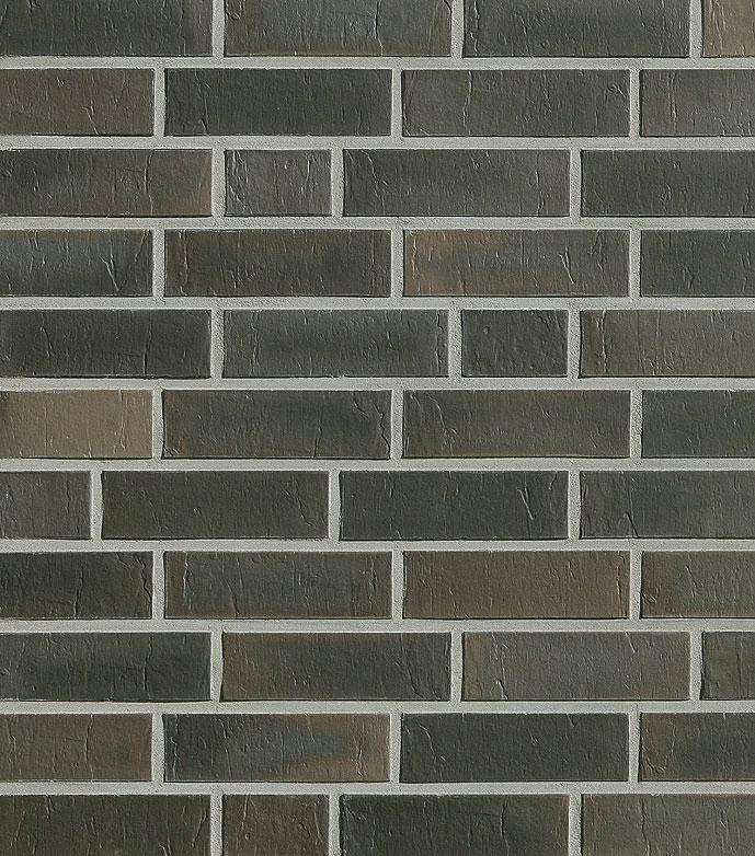 Клинкерный облицовочный кирпич Roben Chelsea basalt-bunt NF, 240x115x71