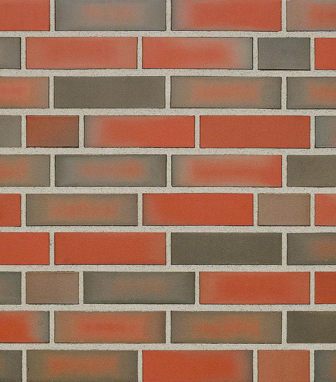 Клинкерная фасадная плитка под кирпич Roben Westerwald bunt, 240*9*71 мм