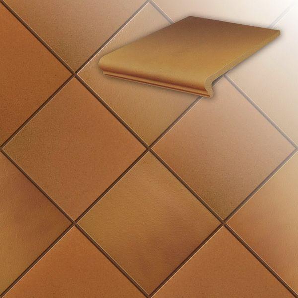 Клинкерная напольная плитка Stroeher Terra 307 weizengelb, 240*240*12 мм