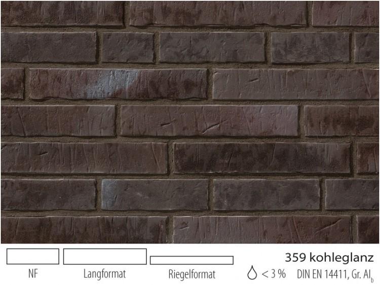 Клинкерная плитка под кирпич Stroher Zeitlos 359 kohlenglanz