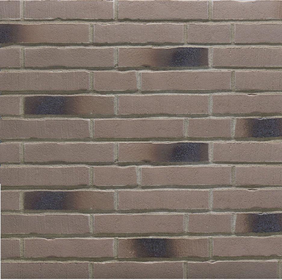 Клинкерная фасадная плитка под кирпич Stroher Handstrich 393 eisenasche