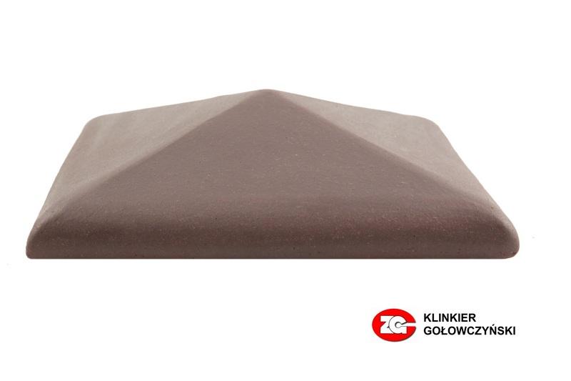 Колпак для забора керамический ZG-Clinker вишневый