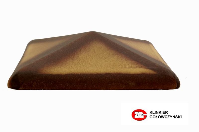 Колпак для забора керамический ZG-Clinker желтый тушевой