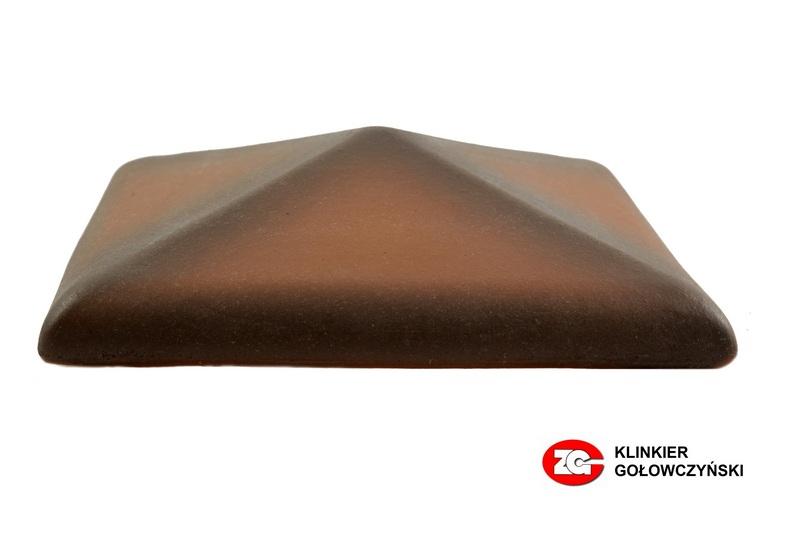 Колпак для забора керамический ZG-Clinker каштановый