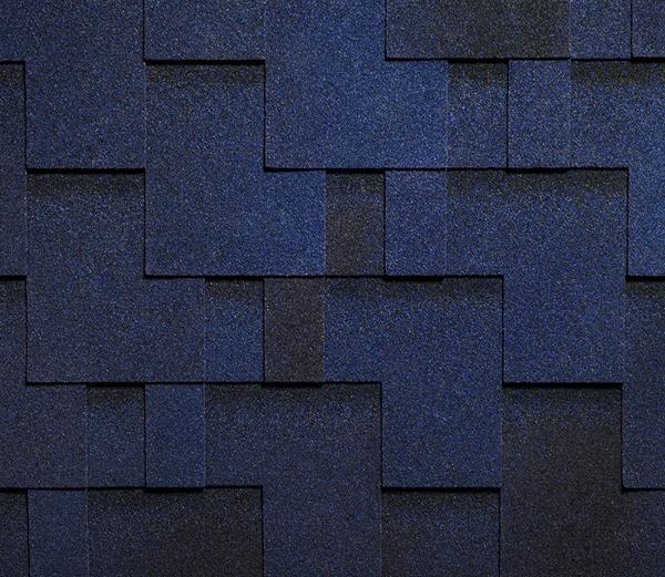 Гибкая однослойная черепица RUFLEX, RUNA, аккорд (голубая лагуна)
