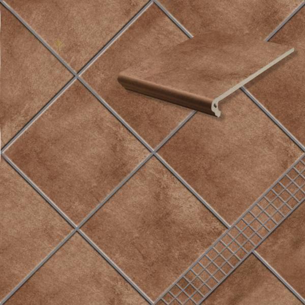 Клинкерная напольная плитка Stroeher Aera T 712 marone, 294*294*10 мм