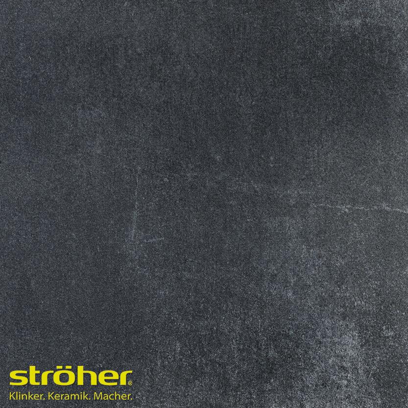 Клинкерная напольная плитка Stroeher Aera T 717 anthra, 294*294*10 мм