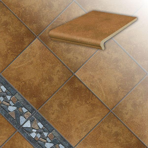 Клинкерная напольная плитка Stroeher Roccia 839 ferro, 294*294*10 мм