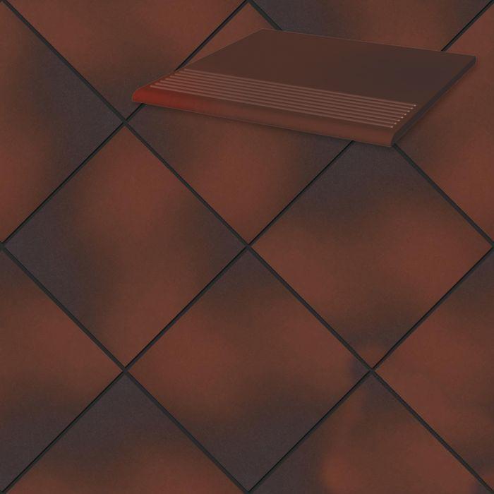 Напольная клинкерная плитка Paradyz, Cloud Brown 300*300*11 мм