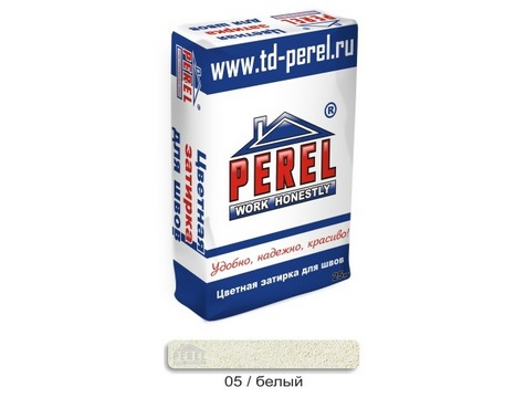 Цветная Затирочная Смесь PEREL RL 0405 белый, 25 кг