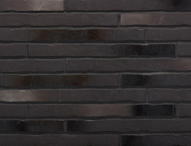 Клинкерная плитка под кирпич ригель формата Stroher RIEGEL 50 453 silber-schwarz
