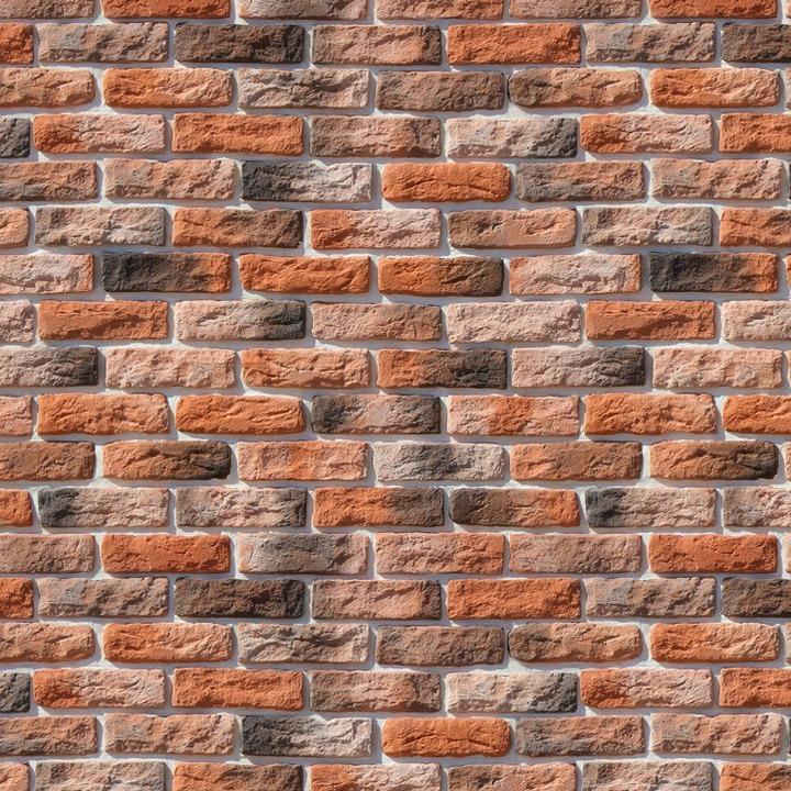 Облицовочный камень под кирпич ручной формовки Брюгге Брик 316-50