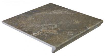 Фронтальная клинкерная ступень Ceramica Mayor Sea Rock Gris Oscuro