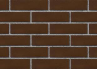 Кирпич лицевой керамический ЛСР пустотелый коричневый гладкий