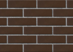Кирпич лицевой керамический ЛСР полнотелый коричневый гладкий